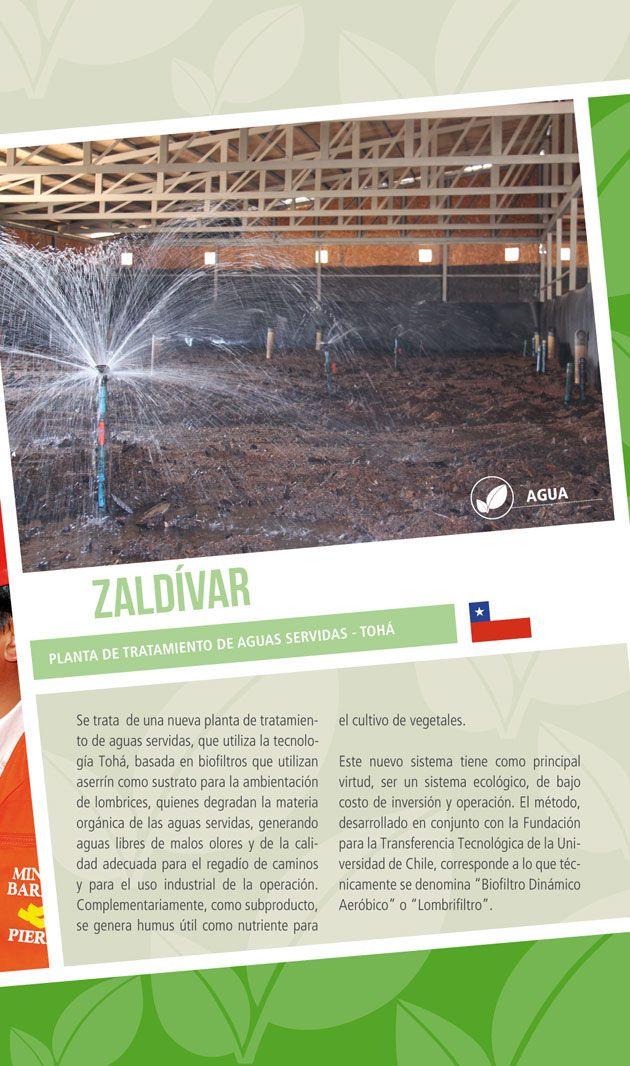 Zaldívar: Planta de tratamiento de aguas servidas - Tohá - Infografía completa en el sitio de Barrick Sudamérica http://barricksudamerica.com