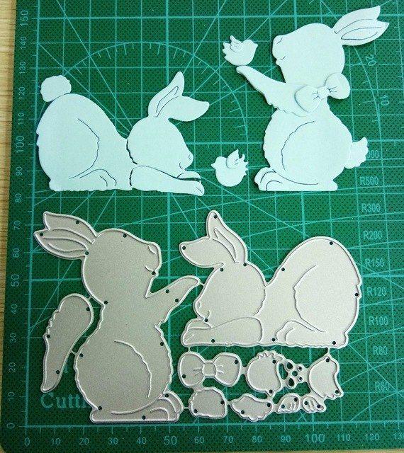Rabbit Bird Metal Cutting Dies Cut Stencils for DIY Scrapbooking Photo Album