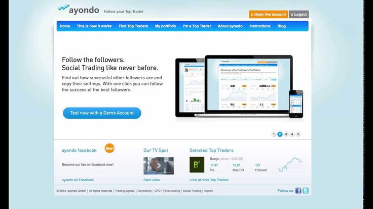 This week we take a look at the Social Trading site Ayondo for a brief overview of the site. For more info on Social Trading check out this article at http://www.howtocopytradeforex.com/top-6-social-trading-networks/ >> Ayondo Social Trading --> http://www.youtube.com/watch?v=YaW6V3jw21g