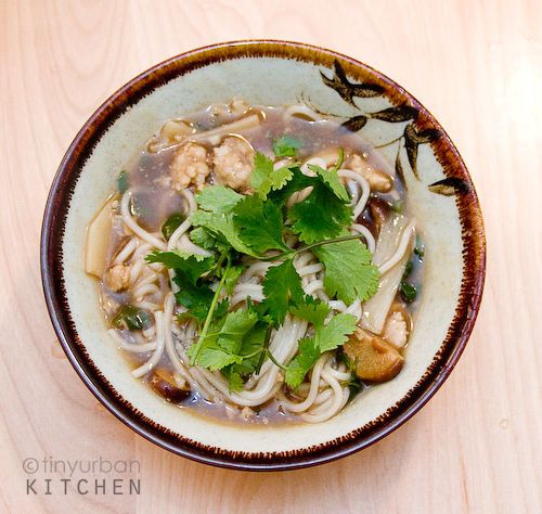 Pork and Fish Ball Noodle Soup (Ro Geng Mian)