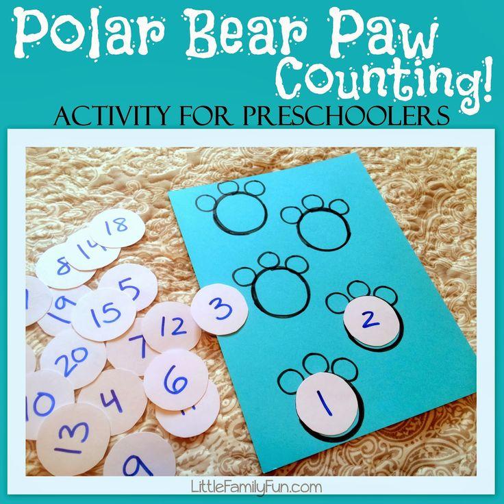 Rekenspel: http://www.littlefamilyfun.com/2014/01/polar-bear-paw-counting.html