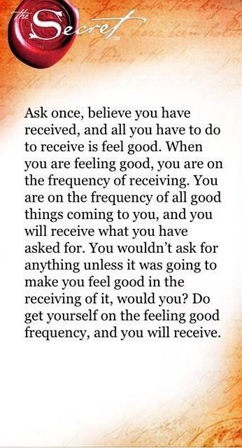 Ask Believe Receive!                                                                                                                                                                                 More