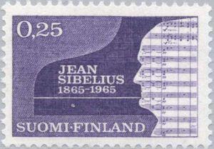 Silhouette of Sibelius, Jean (1865-1957), Composer & Piano