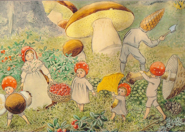 Elsa Beskow  beautifull and calming..Remember them from the  good books of my childhood.