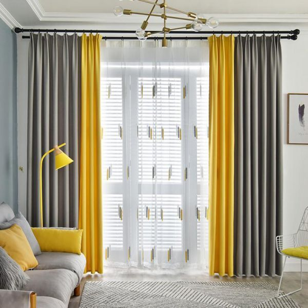 Matching Darkening Window Curtain Panel For Great Room White 4 Prong Pinch Ple Yellow Curtains Living Room Grey Curtains Living Room Living Room Decor Curtains