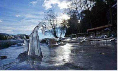 Η ομορφιά της παγωμένης λίμνης της Καστοριάς !