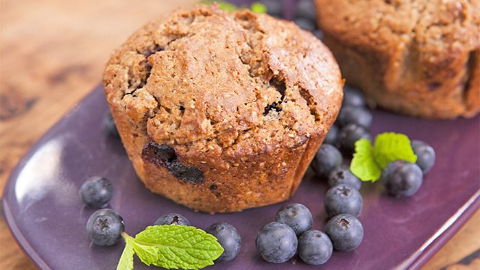 Acai Berry, Almond and Chia Muffins