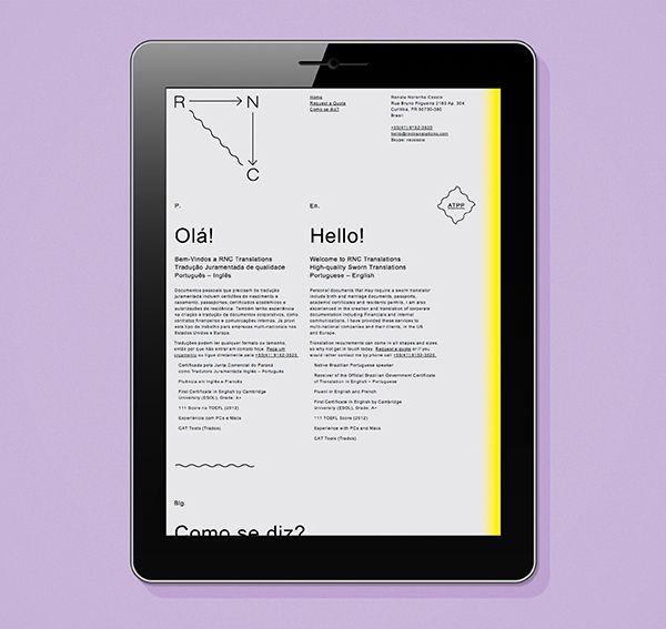 Responsive website design by Studio Constantine for translator Renata Noronha Cossio.