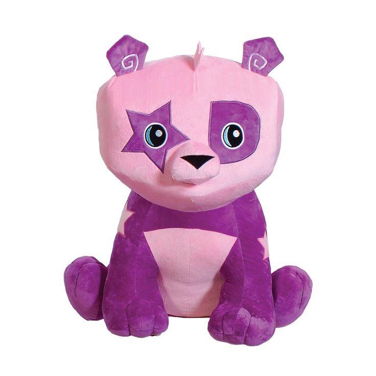 10 Inch Cute Bright Purple & Pink Panda Bear Stuffed Animal Plush Soft Toy Kids