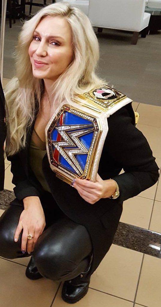 WWE Charlotte Flair Smackdown Women's Championship (Congratulations Charlotte beat Natalya!)