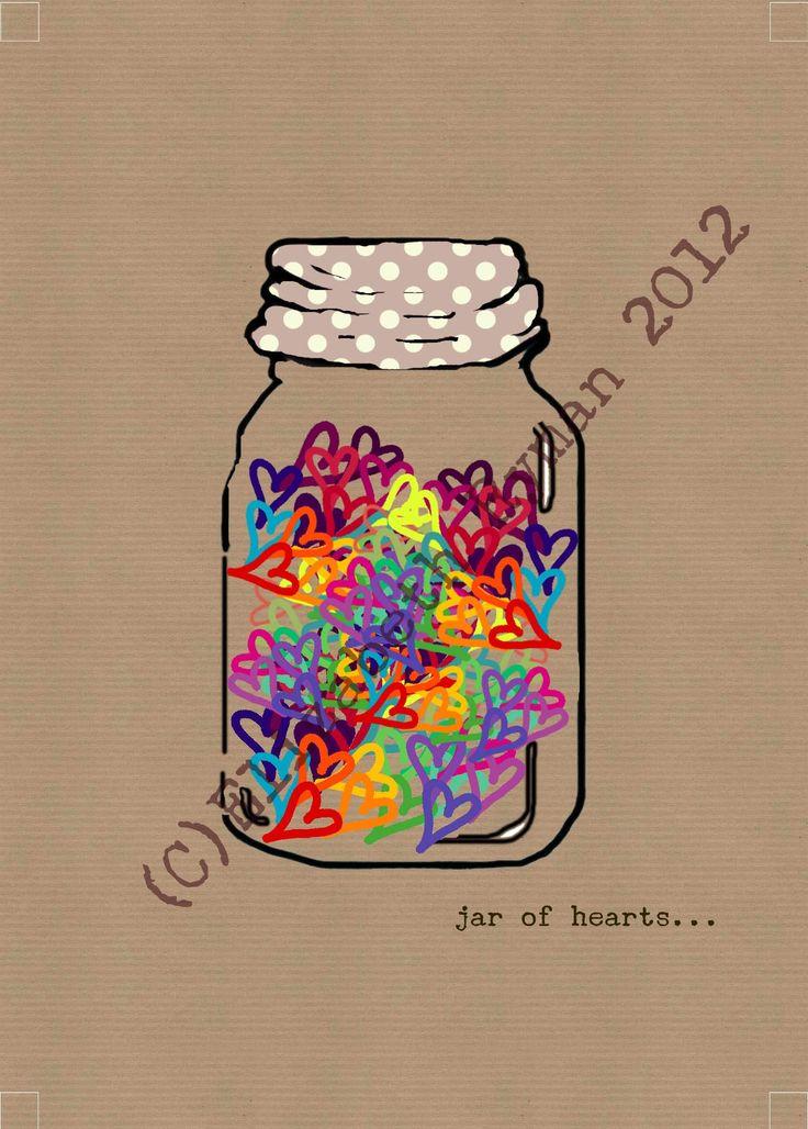 'Jar of hearts...' (c)Elizabeth Ryman 2013 for www.cinnamontoastdesigns.com