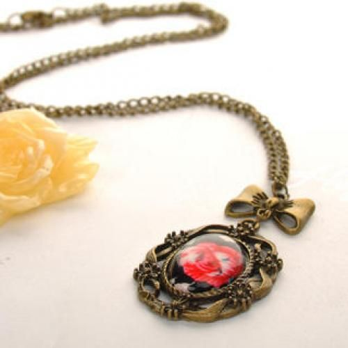Rose Necklace Copper - One Size