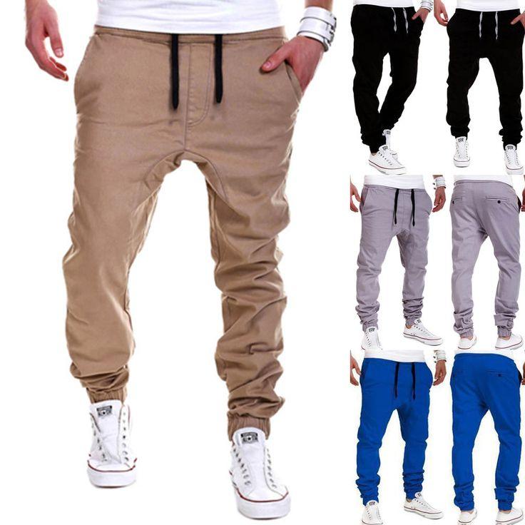 Herren Jogger Chino Hosen Freizeit Sports Jeans Jogginghose Haremshose Gr.M-3XL  | eBay