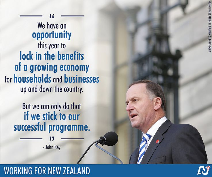 The future is positive for New Zealand, but we need to ensure the country keeps moving in the right direction. #Working4NZ #TeamKey