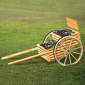 11-2238 - Landscape Timber Chariot Woodworking Plan