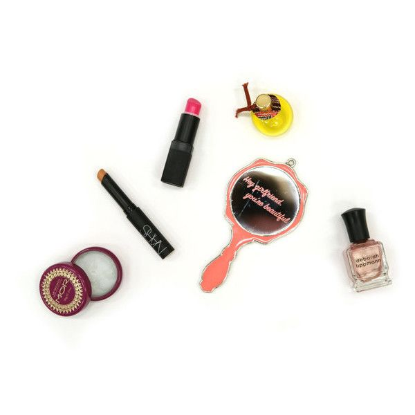 What's in your bag, Amina Said? ❤ liked on Polyvore featuring makeup and fillers
