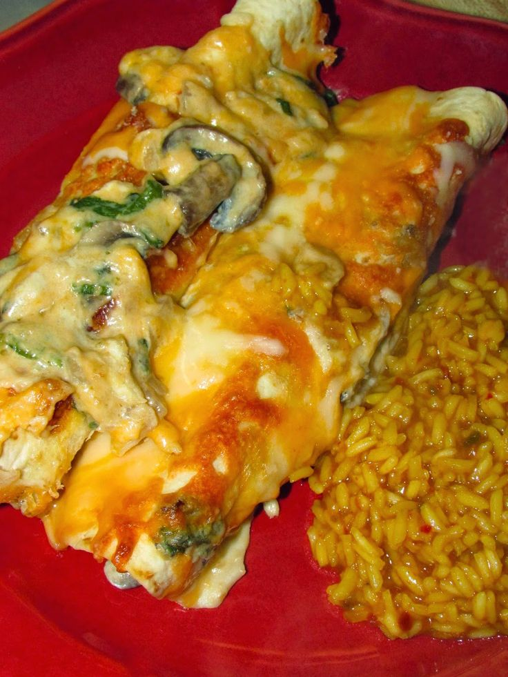 For the Love of Food: Meatless Monday: Mushroom Spinach Enchiladas
