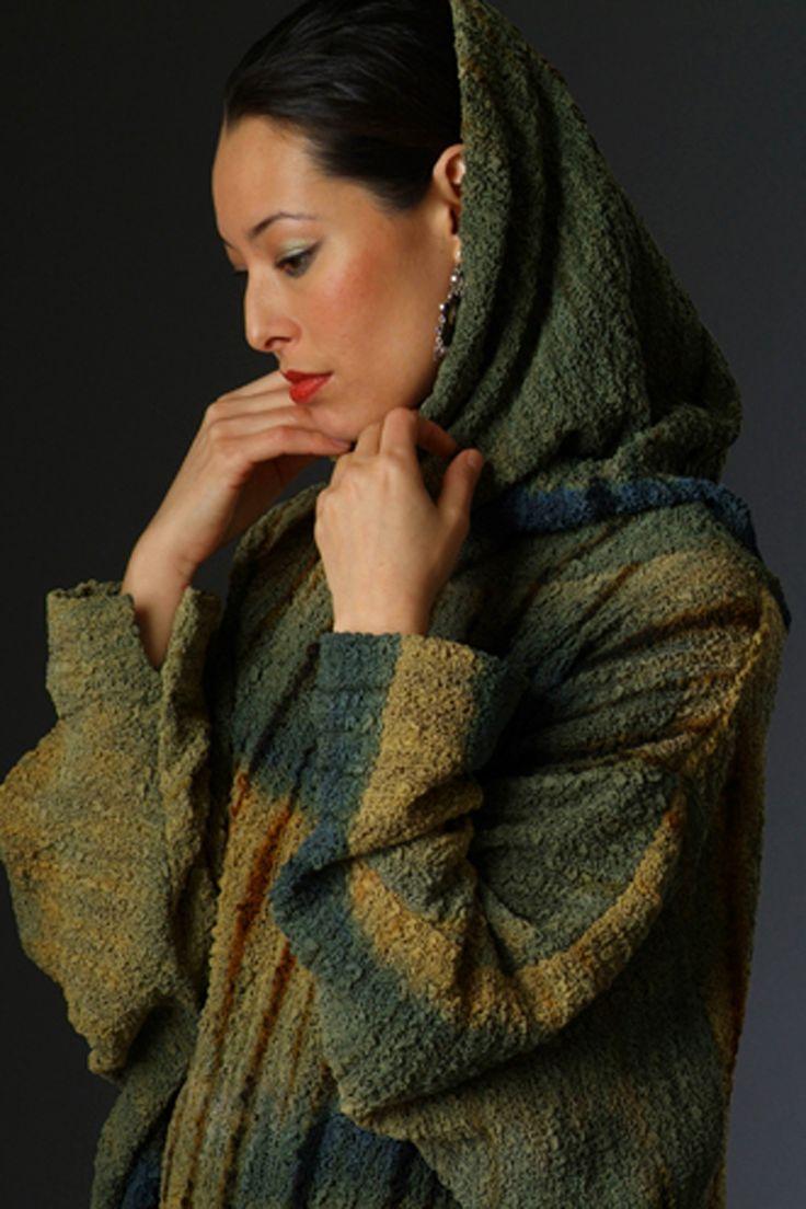 hand painted bubble silk alissa-sweater