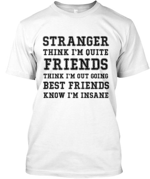 Stranger Friends White T-Shirt Front