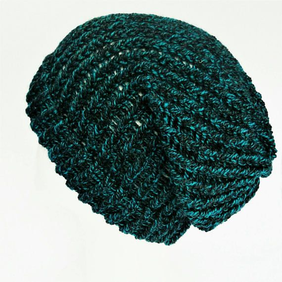 Check out this item in my Etsy shop https://www.etsy.com/uk/listing/534118652/ladies-slouch-hat-blue-green-hat-dark