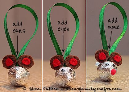 Candy Kiss Mouse Ornament   All About Family Crafts
