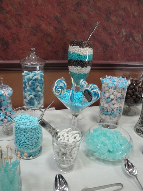 Baby shower, blue candy