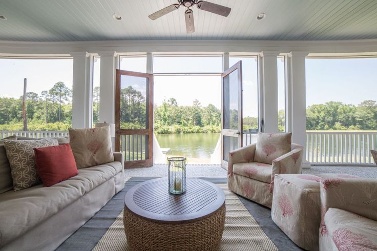 Waterfront Porch in Palmetto Bluff   Amazing Views from Porch   Luxury Real Estate Bluffton, South Carolina