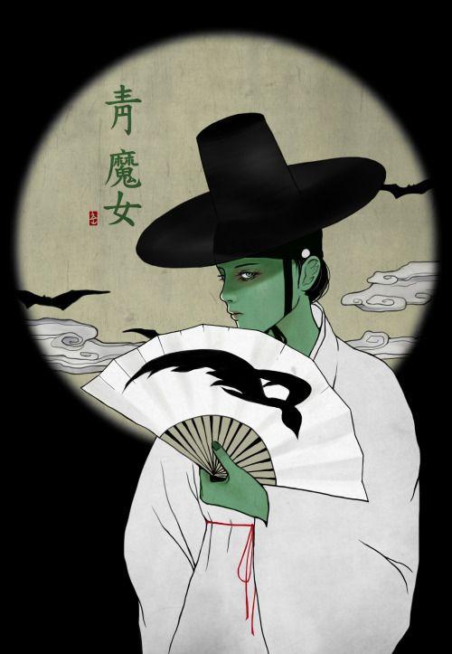 wicked in hanbok (korean traditional dress)