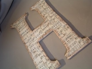 Sheet Music Letters