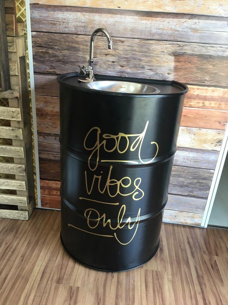tonel pia decorativo, reciclado, pia decorativa, personalização, tambor, barril, design, interiores, arquitetura, decor.
