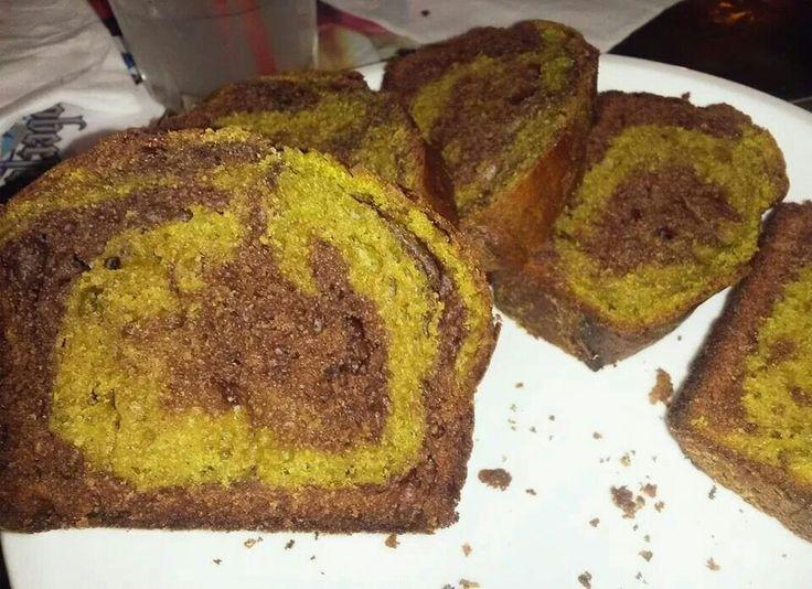 Plumcake al matcha e cacao