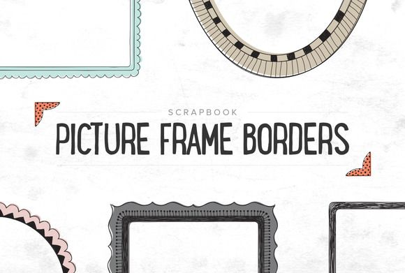 Check out Scrapbooking Picture Borders - SALE by Prixel Creative  on Creative Market