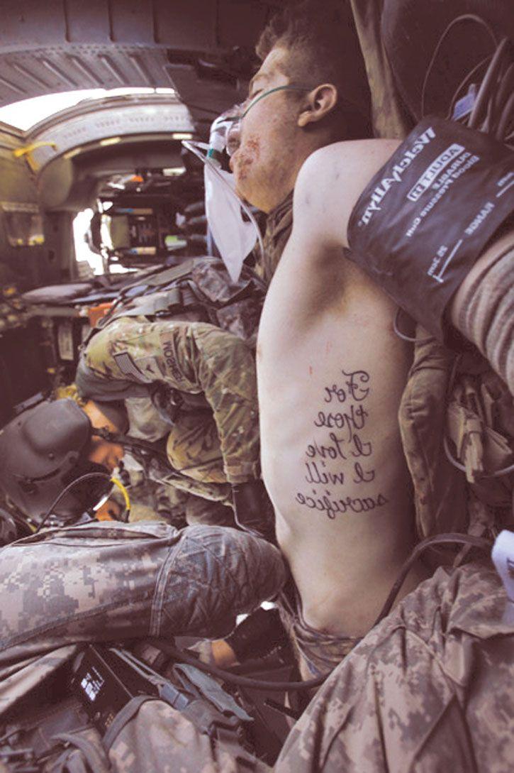 For Those I Love I Will Sacrifice Tattoo Idea