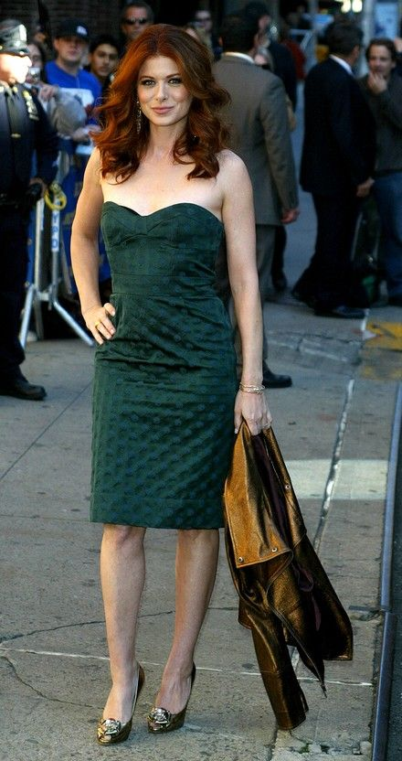 Debra Messing outside the Ed Sullivan Theatre for the 'Late Show With David Letterman' | In Case You Didn't Know