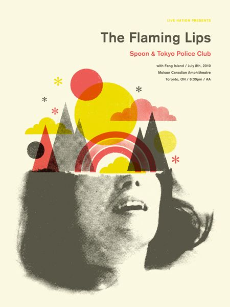 The flaming lips: Graphic Design, Poster Design, Gig Posters, Illustration, Graphicdesign