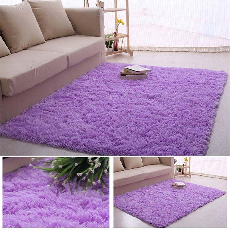Пушистые ковры - Skiding лохматый коврик столовая ковер коврики фиолетовый мохнатые коврики шевелюры ковры A609(China (Mainland))