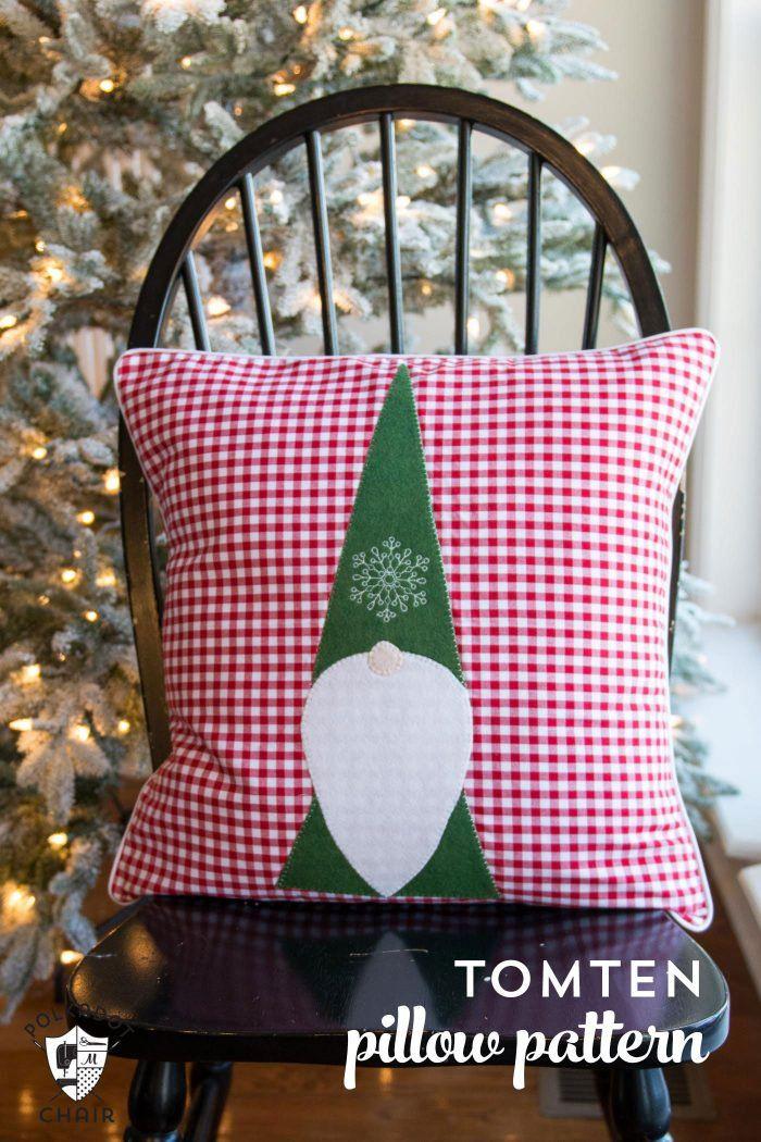 Tomte Christmas Gnome Pillow Pattern Christmas Sewing Pillow Pattern Christmas Diy