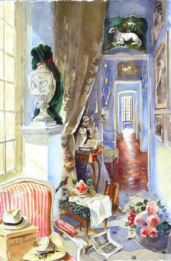 Grand Couloir Bleu Notre Vieille Maison Portrait De Maison En