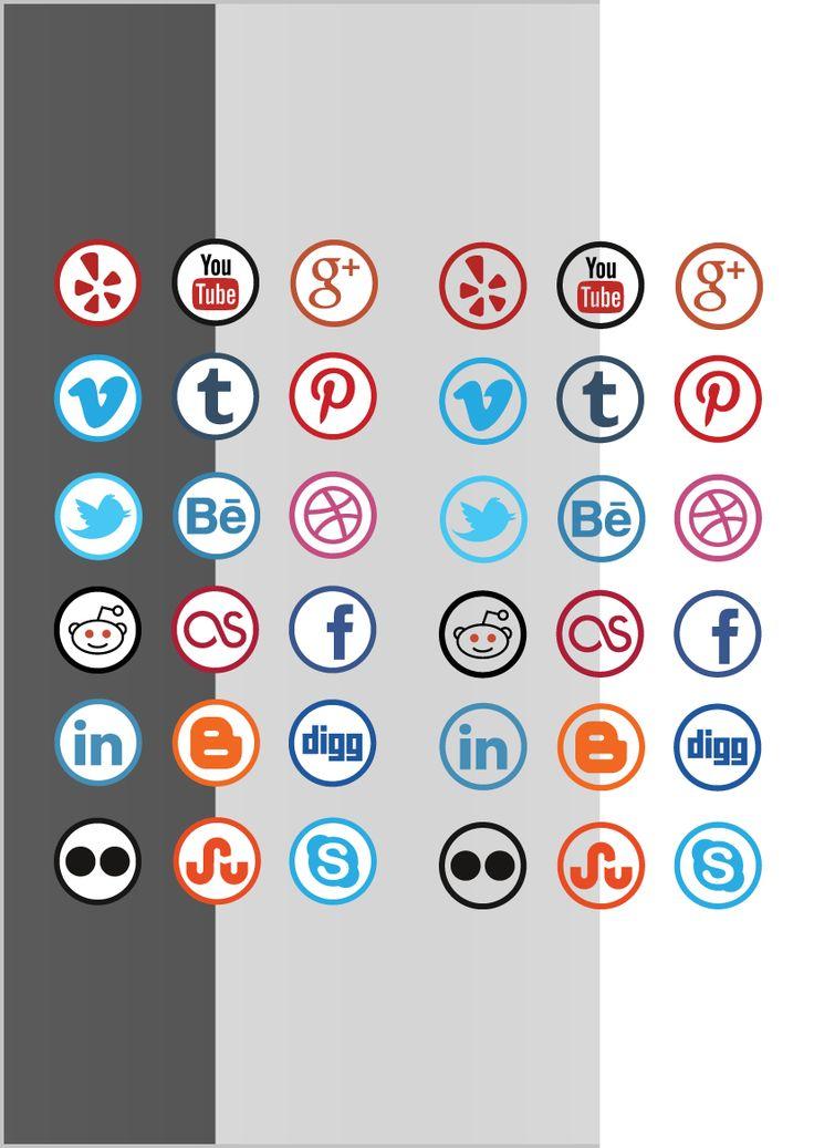 social media iconen set 5  de iconen zijn ook ideaal te