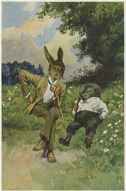 Paul Hey - rabbit and hedgehog