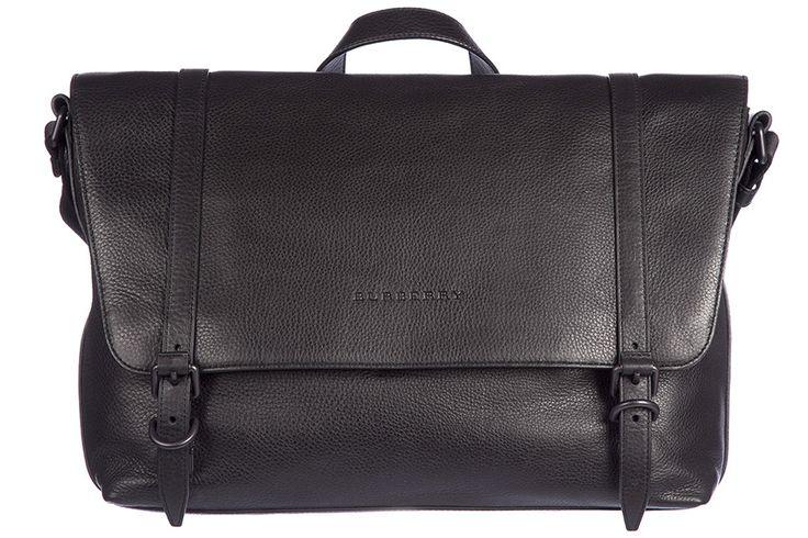 Burberry borsa uomo a tracolla borsello in pelle nuovo foster vintage 3955396 nero | Frmoda.com
