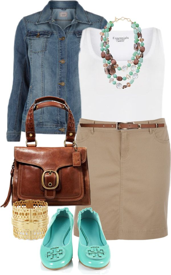 """""""Casual Friday -  by alexawebb ❤ liked on Polyvore...love the Tori Burch flats"""