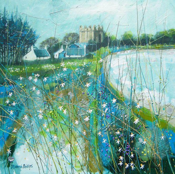Spring Evening Kilclief by the contemporary artist Deborah Phillips