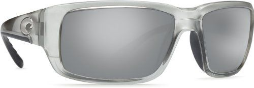 Costa Del Mar Sunglasses - Fantail- Glass / Frame: Silver Lens: Polarized Silver Mirror 580 Glass. Style: Rectangular. Frame: Plastic. Lens: Polarized Glass. Size: 59 mm x 18 mm x 120 mm. Gender: Unisex.