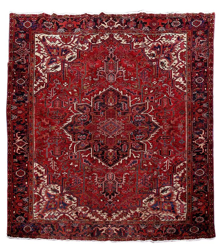 Handmade Rug 8' x 9' Persian Heriz Hard-Wearing Carpet Nomad Weavers