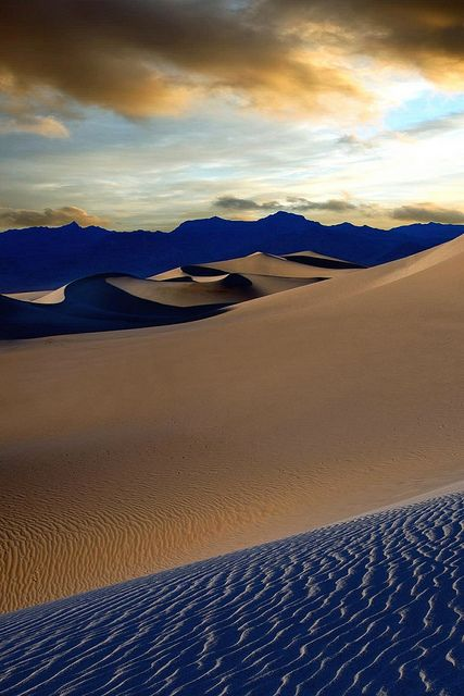 Dunas planas de Mesquite, Death Valley | POR todaniell, Stove Pipe Wells, Califórnia, Estados Unidos