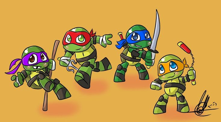 Baby Mutant Ninja Turtles by Spooky416