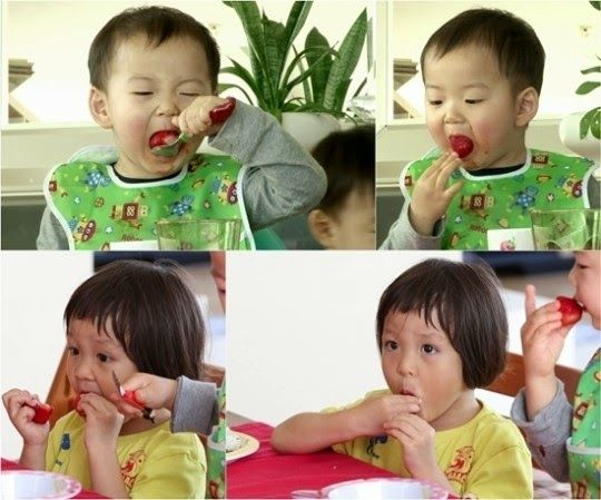 Strawberries eating battle between Minguk and Sarang | The Return of Superman