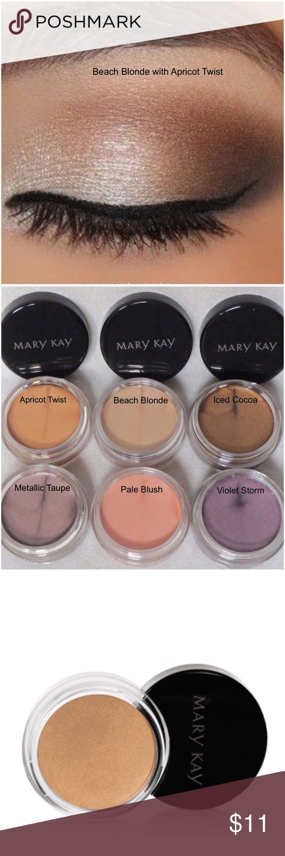 Mary Kay Cream Eye Color This soft, creamy, long-wearing formula glides on easily, lasts for 10 hours and can be applied in multiple layers to deliver more noticeable color while retaining a lightweight feel. It can be used alone or as a primer under mineral eye color, dries quickly and does not transfer, oil- and fragrance-free, clinically tested for skin irritancy and allergy, suitable for sensitive skin and eyes, and ophthalmologist-tested and suitable for contact lens wearers. Mary Kay…