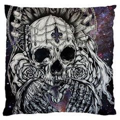 Items Similar To Relic   Gothic Galaxy Print Skull Pillow Case Cover  Cushion Bedding Black And White Gothic Rockabilly Tattoo Home Decor Sham On  Etsy